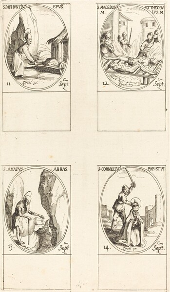 St. Paphnutius; Sts. Macedonius and Theodulus; St. Amatus; St. Cornelias