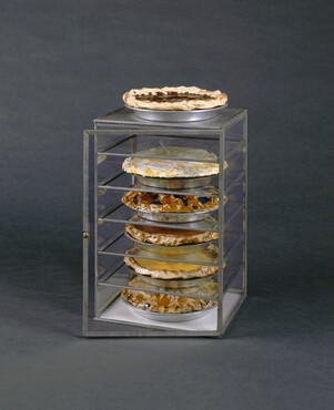 Claes Oldenburg, Glass Case with Pies (Assorted Pies in a Case), 19621962
