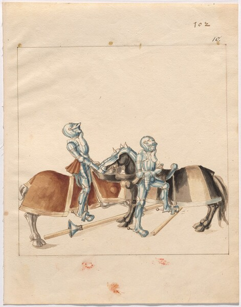 Freydal, The Book of Jousts and Tournament of Emperor Maximilian I: Combats on Horseback (Jousts)(Volume II): Plate 91