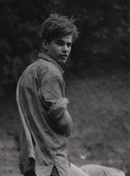 Wandering boy, Camp Carlton, California