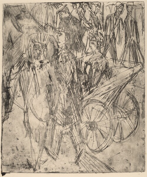 Couple in Front of a Carriage