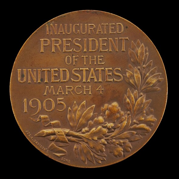 Theodore Roosevelt Inaugural Medal [reverse]