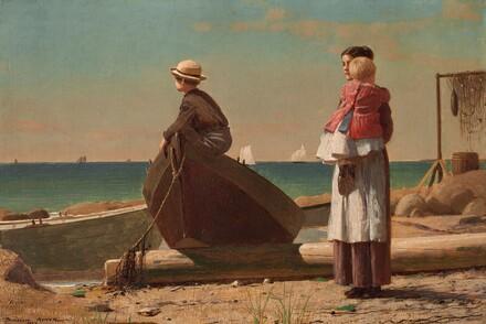Winslow Homer, Dad's Coming!, 1873