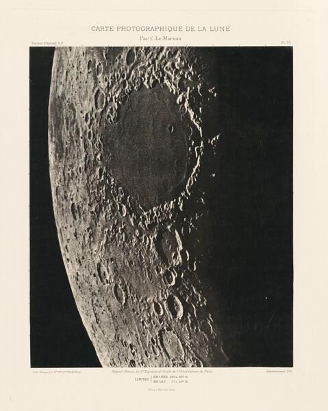 Carte photographique de la lune, planche VII (Photographic Chart of the Moon, plate VII)