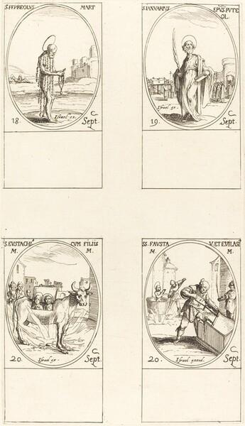 St. Ferreolus; St. Januarius; St. Eustachius & his Children; Sts. Fausta & Evelasius