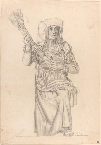 Italian Peasant Woman with a Broom