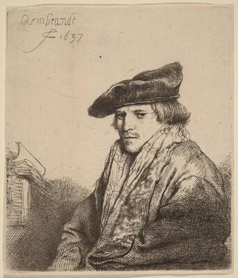 Young Man in a Velvet Cap (Ferdinand Bol?)