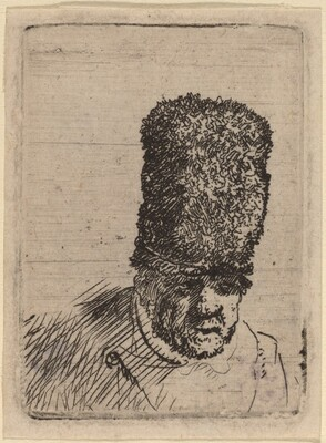 Head of an Old Man in High Fur Cap