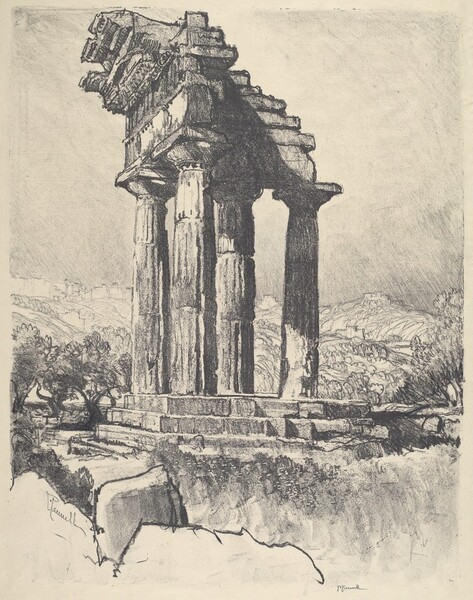 The Columns of Castor and Pollux, Girgenti