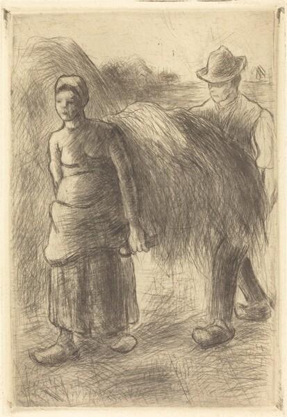 Peasants Carrying Hay (Paysans portant du foin)