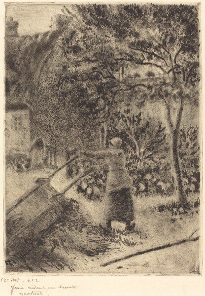 A Woman Emptying a Wheelbarrow (Femme vidant une brouette)
