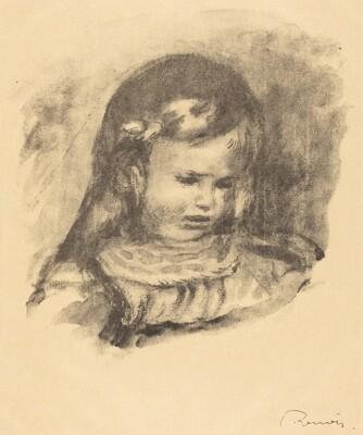 Claude Renoir, head lowered (Claude Renoir, la tete baissee)