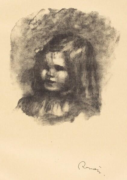Claude Renoir, turned left (Claude Renoir, tourne a gauche)