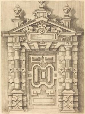 Pedimented Doorway