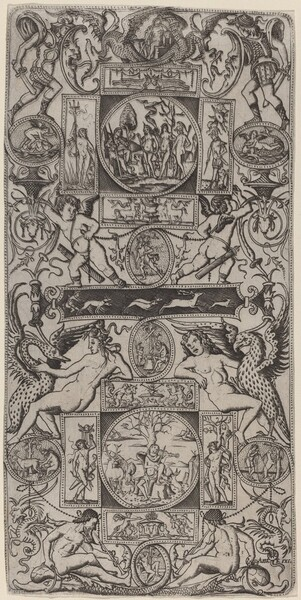 Ornament Panel with Orpheus and the Judgment of Paris