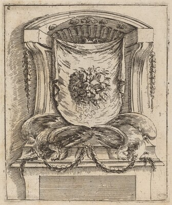 Architectural Motif with a Drape with Fruit