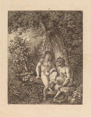Two Satyrs in a Forest