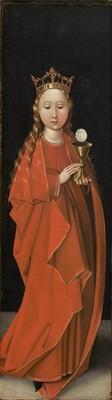 Saint Barbara [left wing exterior]