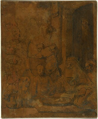 Abraham Entertaining the Angels [recto]