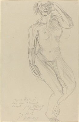 Seated Female Nude Looking Forward