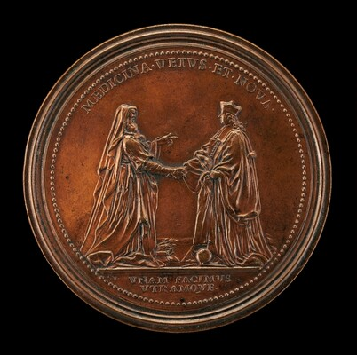 Hippocrates and Dr. John Freind [reverse]