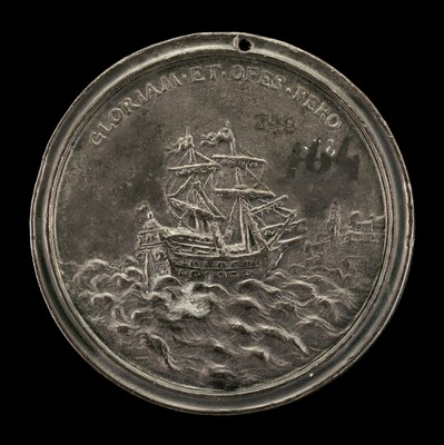 Ship and Fortified City [reverse]