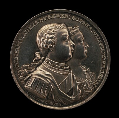 Marriage Medal of Wilhelm V, Prince of Orange, and Frederica Sophia Wilhelmina, Princess of Prussia [obverse]