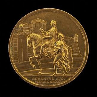 Emperor Joseph II and Abundance Approaching a City Gate [reverse]