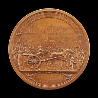 Queen Marie-Antoinette Led to the Guillotine [reverse]