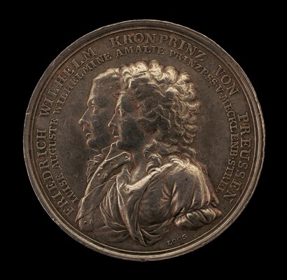 Marriage Medal of Crown Prince Frederick William of Prussia and Princess Louise Augusta of Mecklenburg-Strelitz [obverse]