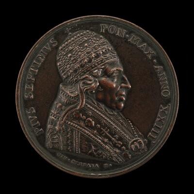 Pius VII (Barnaba Chiaramonti, 1742-1823), Pope 1800 [obverse]