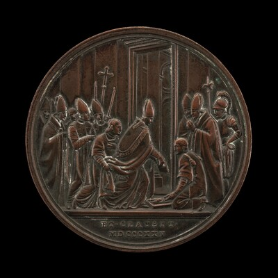 Leo XII and Cardinals Concluding the Jubilee Year [reverse]