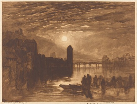 Moonlight on a River (Lucerne?)