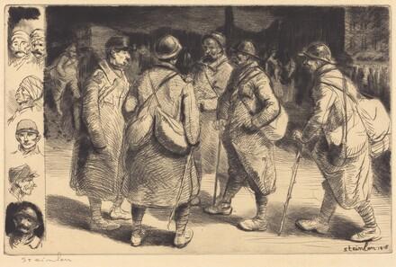 Soldiers on Leave - Night Scene (Permissionnaires - Effet de Nuit)