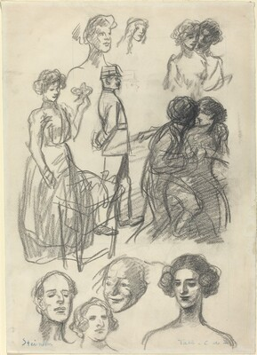Sketches for Lovers on a Bench