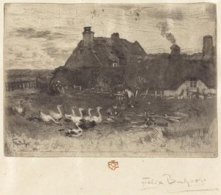 Les Petites Chaumières (Thatched Cottages--Small Plate)
