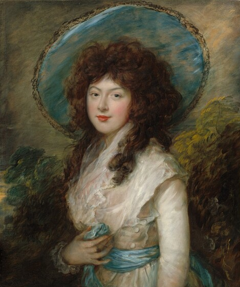 BEAUTIFUL PORTRAIT OF A WOMAN LATE 1700'S BRITISH PAINTING ART REAL CANVAS PRINT