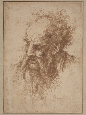 An Elderly Man with a Flowing Beard