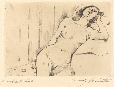 Reclining Female Nude (Ruhende Dreiviertel Akt)