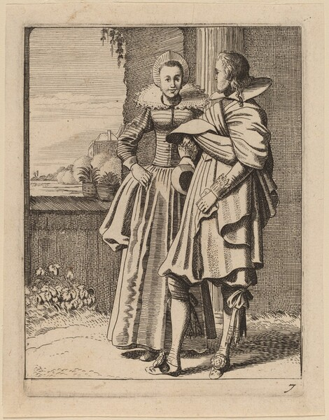 Two Figures in Costume