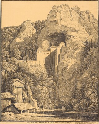 Das Schloss Prediama in Crein XII Stund: von Triest (Predjama Castle in Carniola, Twelve Hours from Trieste)