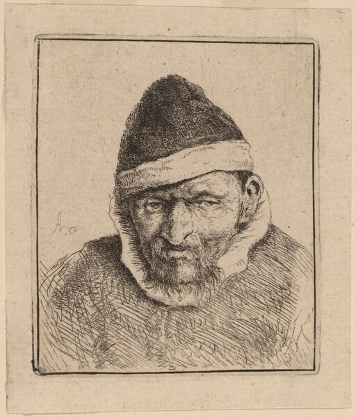 Peasant Wearing a Pointed Cap