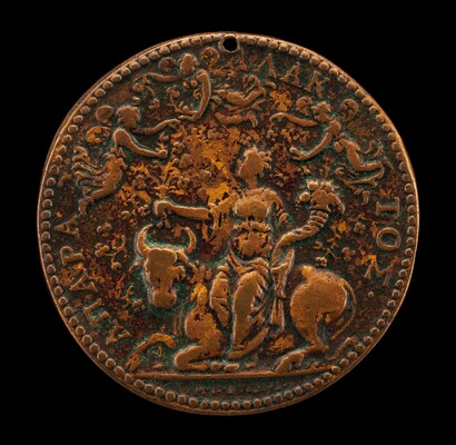 Allegory of Peace(?), with Abundance Seated on a Bull and Psyches Flying About [reverse]