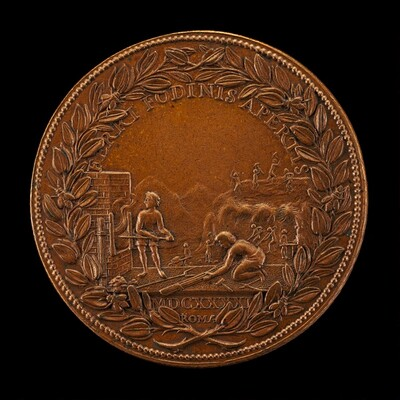 Mining Works on Monte Leone [reverse]