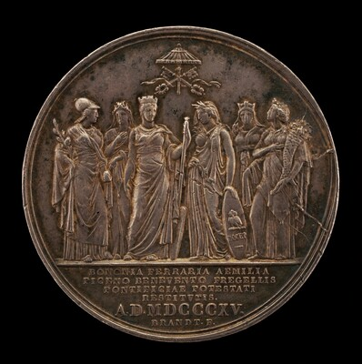 Rome and the Papal States Welcoming the Return of the Pope from Imprisonment [reverse]