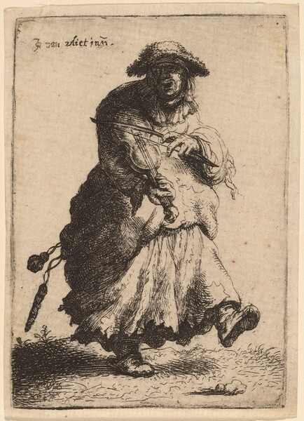 Beggar Woman Playing the Violin