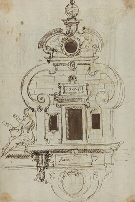 Wall Monument with an Armillary Sphere [verso]