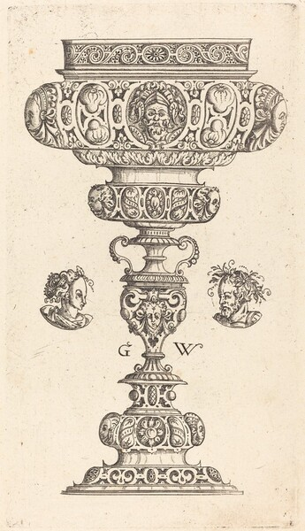 Chalice with Head of a Warrior
