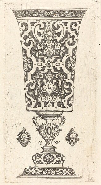 Goblet decorated with masque