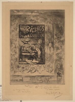 Frontispiece for Zigzags d'un Curieux, d'Octave Uzanne